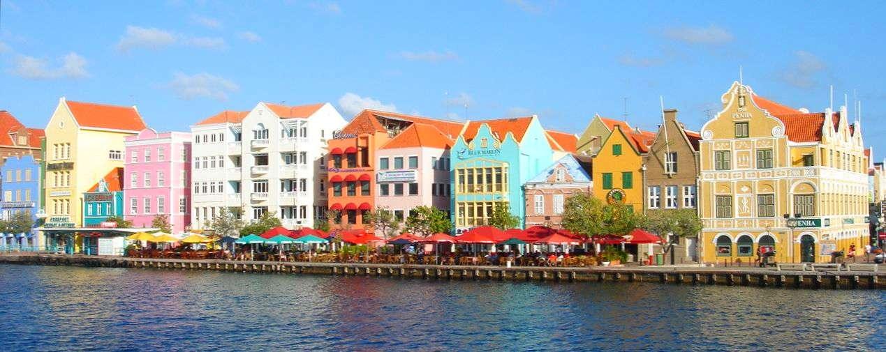 Handelskade in Willemstad, Curacao